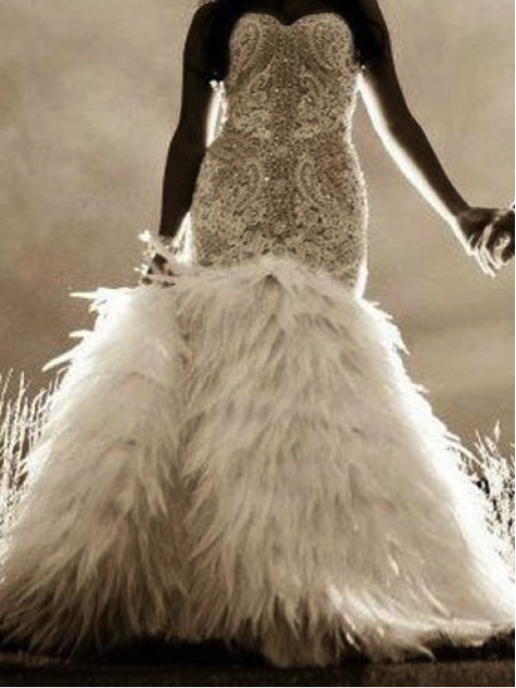 Bridal gown trends 2016 for Wedding dress with feathers on bottom